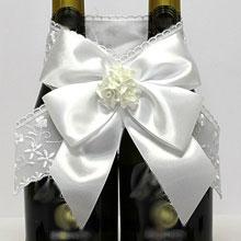 """Свадебное украшение для бутылок  """"Изящность"""""""