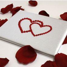 """Книга пожеланий ручной работы """"Два сердца"""""""