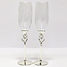"""Свадебные бокалы """"Exclusive"""" № 4 (2 шт, серебро)"""