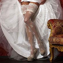 Свадебные чулки Charmante FANTAIL (L/XL, белый, 20 den)