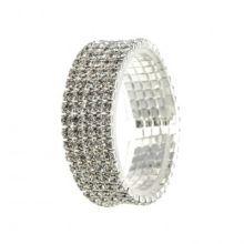 """Свадебный браслет для невесты """"Марго"""" (5 рядов страз)"""