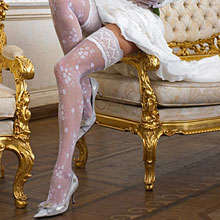 Свадебные чулки для невесты Charmante MELPOMENE (L/XL, шампань,