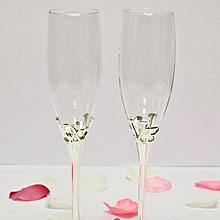 """Свадебные бокалы """"Exclusive"""" № 7 (2 шт, серебро)"""