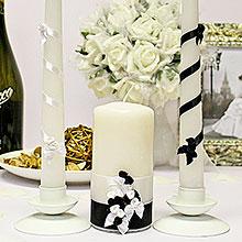 """Набор свадебных свечей """"Изысканная пара"""" (3 свечи)"""