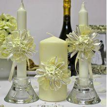 """Набор свадебных свечей """"Восторг"""" (3 свечи)"""