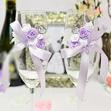 Свадебное украшение на бокалы Софи (2 шт)
