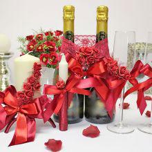Комплект свадебных аксессуаров Бордо (3)