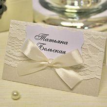 Рассадочная карточка ручной работы Розанна