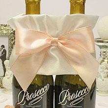 """Украшение для бутылок шампанского """"Бант"""" (нежно-розовый)"""