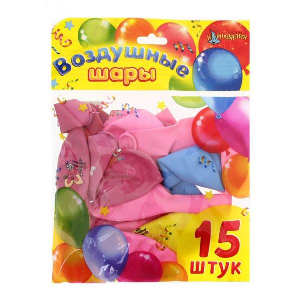 """Набор шаров """"Веселая любовь"""" (30 см, 15 шт)"""