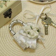 Замочек на свадьбу Розанна (белый)