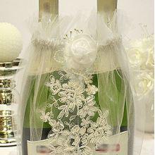 """Мешочек для свадебных бутылок """"Ажур"""""""