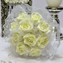 """Свадебный букет для невесты """"Каприз"""" (айвори)"""