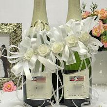 """Свадебное украшение для шампанского """"Соблазн"""""""