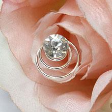"""Спиральки для свадебной прически """"Страз"""" (1 шт)"""