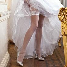 Чулки на свадьбу Charmante ROSETTA (L/XL, белый, 20 den)