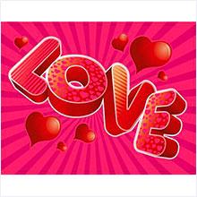 """Наклейки для декорирования """"LOVE"""""""