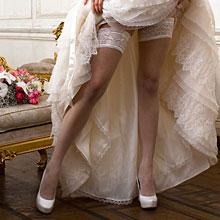 Свадебные чулки для невесты Charmante FIOCCO (L/XL, белый, 20 den)