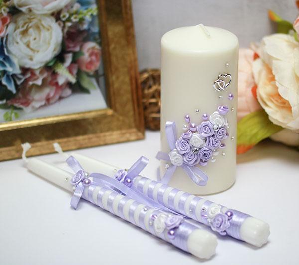 """Набор свадебных свечей """"Софи"""" (3 свечи без подсвечников)"""