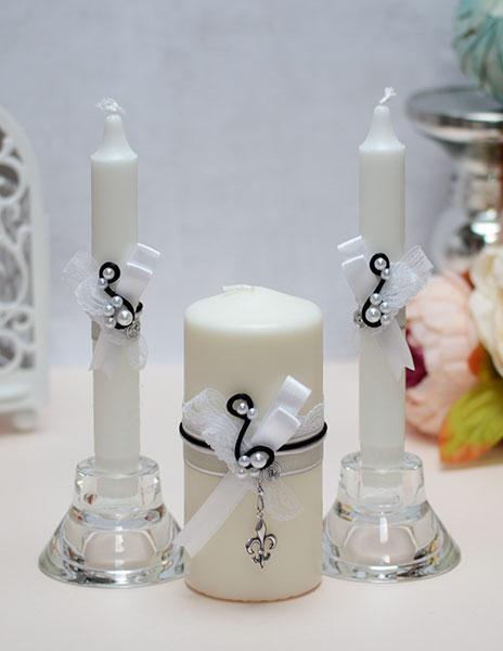 "Домашний очаг + 2 свечи ""Флёр-де-Лис"""
