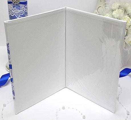 """Папка о браке """"Афродита"""" (синий) для свидетельства (старый формат)"""