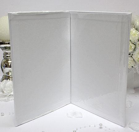 """Папка о браке """"Маргарита"""" (белый) для свидетельства 18х25 см."""