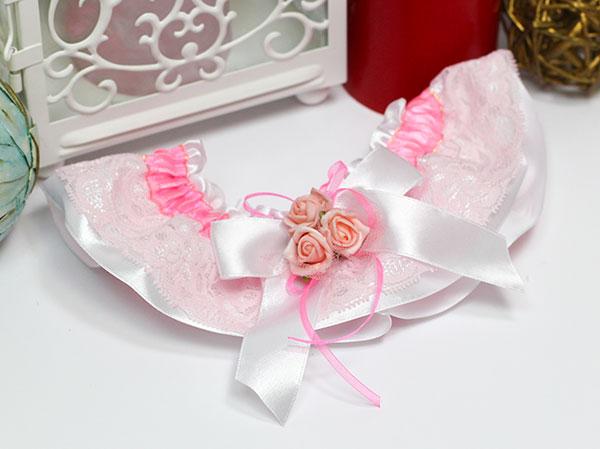 """Подвязка для невесты """"Арина"""" (розовая)"""