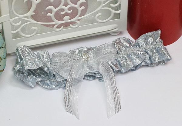 """Подвязка для невесты """"Серебряная мечта №3"""""""