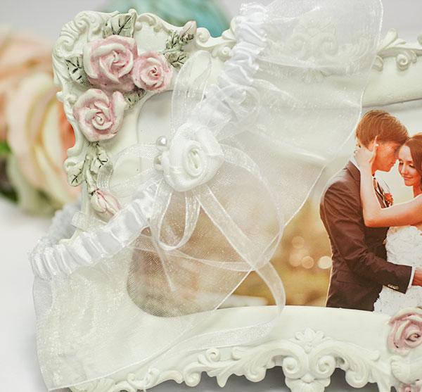 "Подвязка невесты ""Маргарита"" (белый)"