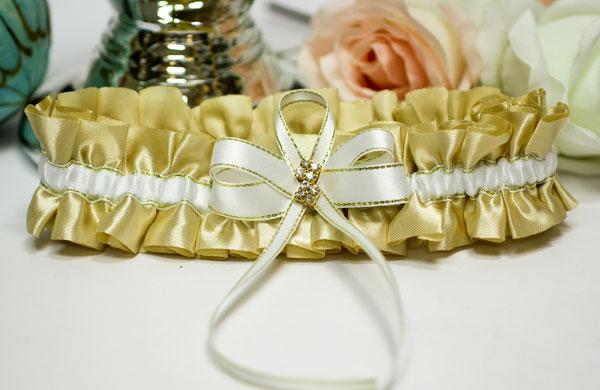 """Подвязка свадебная """"Мерцание золота"""""""