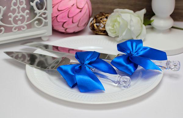 """Сервировочный набор для торта """"Paradise"""" (синий)"""
