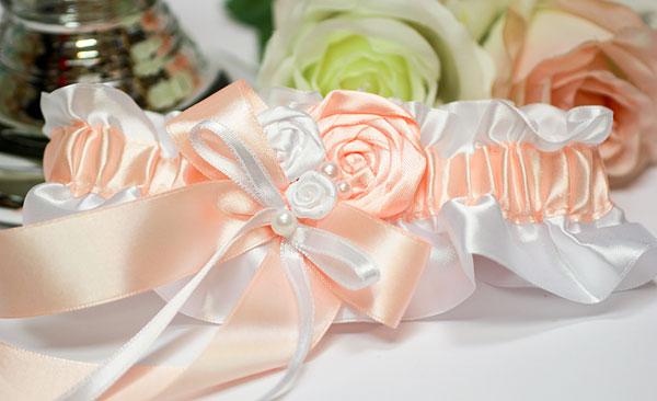 """Подвязка для невесты """"Медовый леденец"""""""