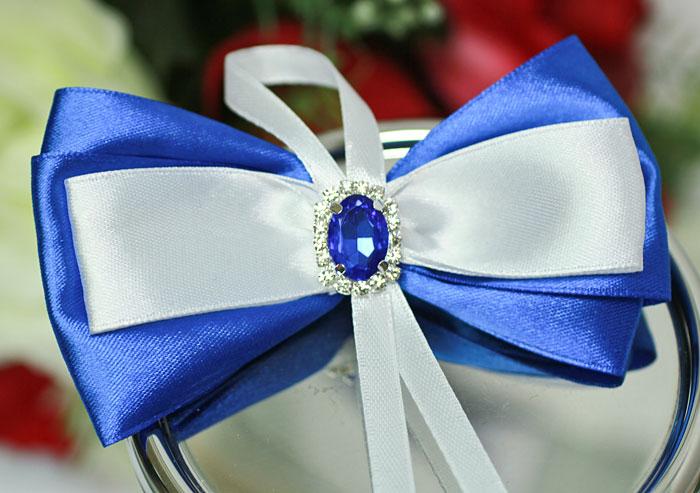 """Свадебная бутоньерка для жениха """"Афродита"""" (синий)"""