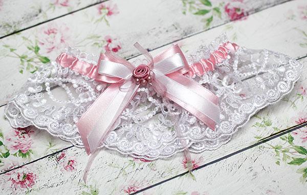 """Свадебная подвязка """"Варенька"""""""