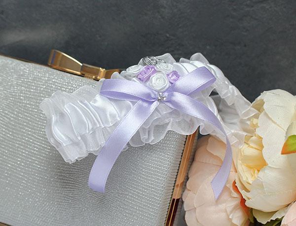 """Свадебная подвязка на ножку """"Софи"""""""