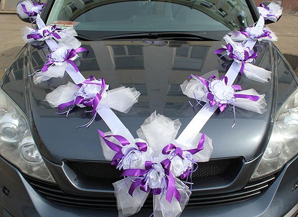 Как своими руками сделать свадебные украшения на машину своими руками фото