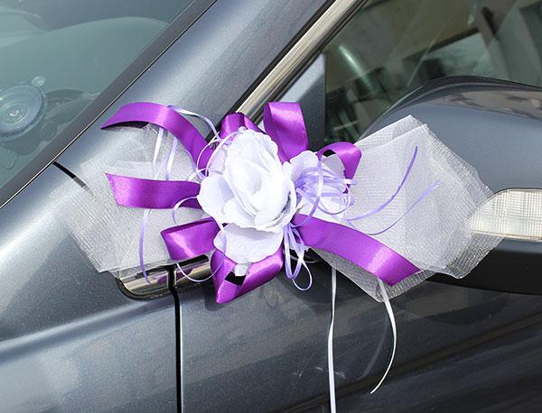 """Набор свадебных украшений на машину """"Лунная соната"""" (фиолетовый)"""