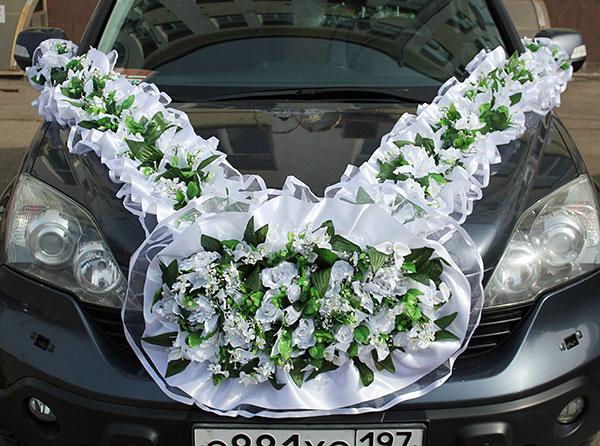 """Набор свадебных украшений на машину """"Дриада"""""""