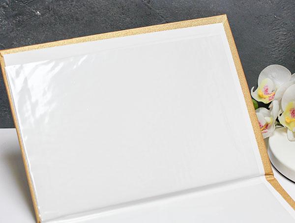 Папка для свидетельства о браке А4 со сгибом (золотистая)