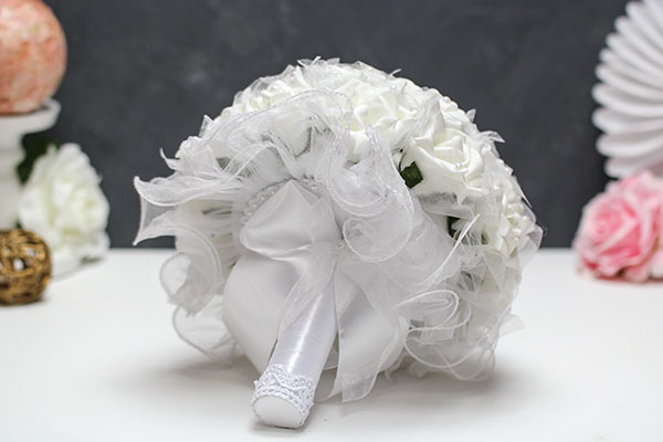 """Свадебный букет-дублер """"Волшебство"""" (белый)"""