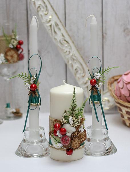 """Свадебные свечи для молодоженов """"Зимняя сказка"""" (без подсвечников)"""