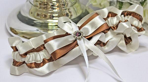 """Подвязка для невесты """"Шоколадный микс"""""""