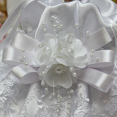 """Сумочка - мешочек для невесты """"Семирамида"""" (белая)"""