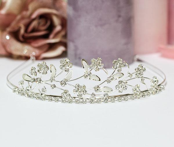 """Свадебная диадема """"Весенний каприз"""" (серебро)"""