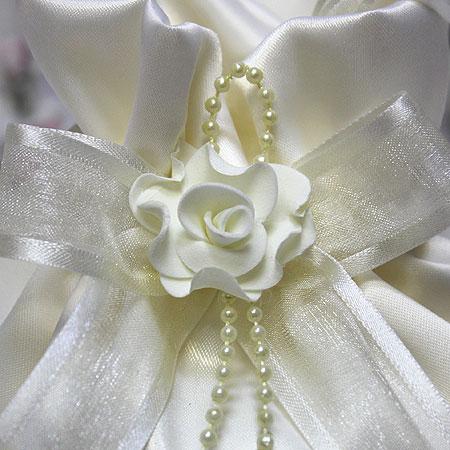 """Сумочка для невесты """"Бант"""" (айвори)"""