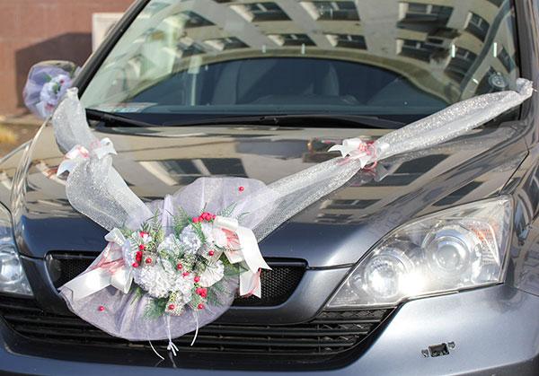 """Набор свадебных украшений на машину """"Зимняя любовь"""""""