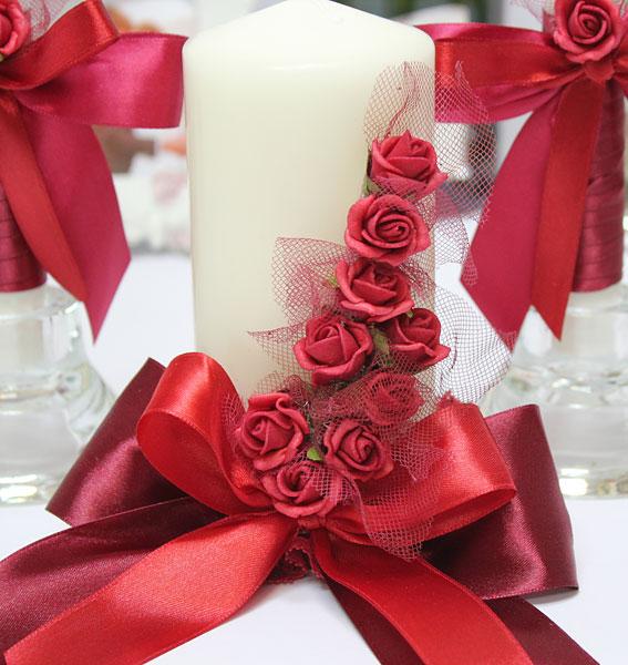 """Набор свадебных свечей """"Бордо"""" (,tp gjlcdtxybrjd)"""