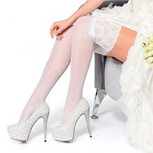 Свадебные чулки Charmante DIADEMA (айвори, 20 den)