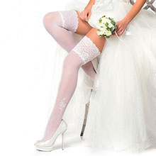 Свадебные чулки Charmante MEMORY (белый, 40 den)