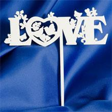 """""""Love"""" - украшение для торта (дерево)"""